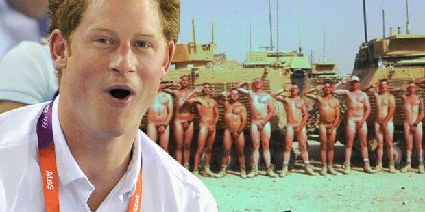 Britische Soldaten strippen für Harry
