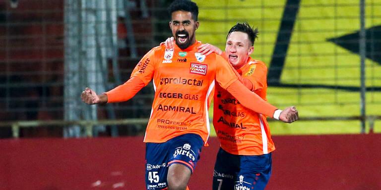 3:2 - Hartberg dreht 0:2 in Auswärtssieg bei Admira