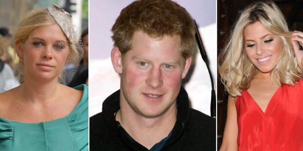 Prinz Harry zwischen zwei Frauen