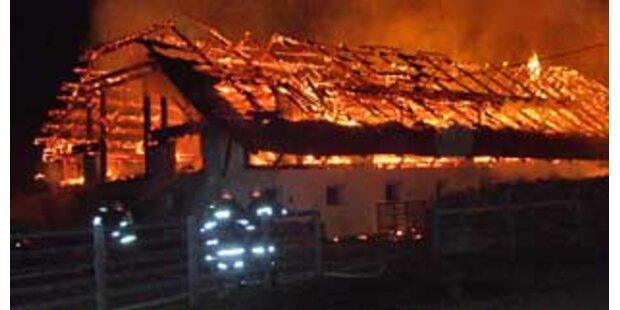 Bauernhof durch Feuer komplett zerstört