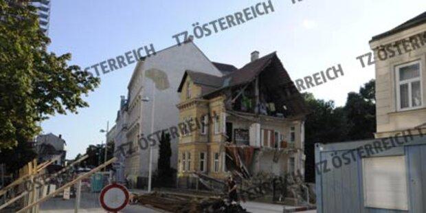 Spektakulärer Hauseinsturz in Wien