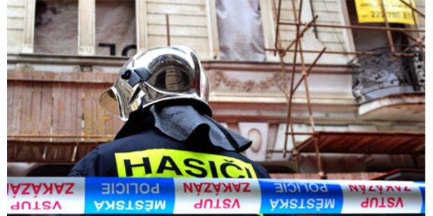 Hauseinsturz in Prag - vier Tote