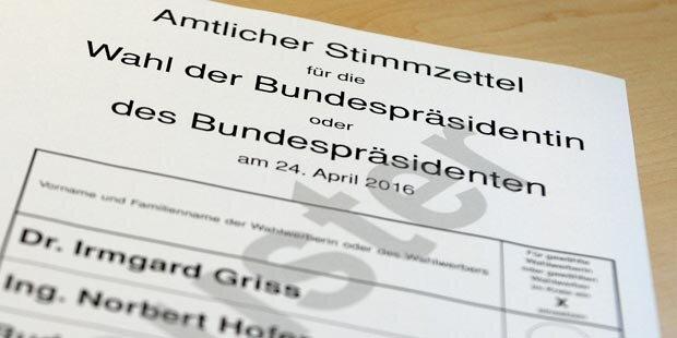 BP-Wahl: Stimmzettel werden gedruckt