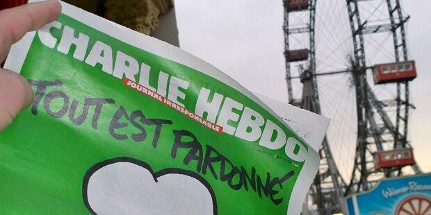 Ansturm auf Charlie Hebdo in Wien