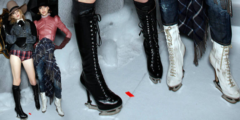 Schlittschuhe als High-Heels von DSquared2