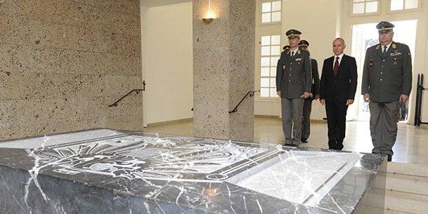 Bundesheer hält Mahnwache ab