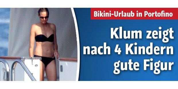 So schön strahlt Heidi Klum im Bikini