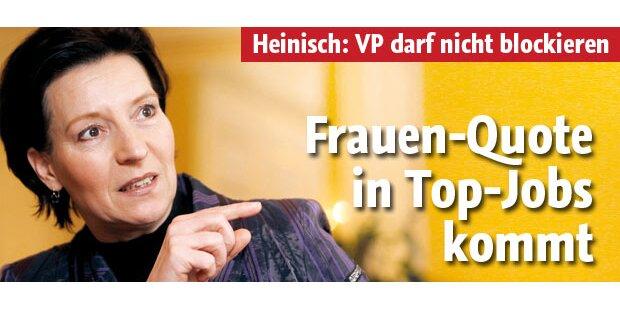 Heinisch: Frauen-Quote in Top-Jobs kommt