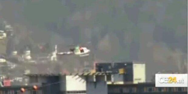 Helikopter in Innsbruck fast abgestürzt