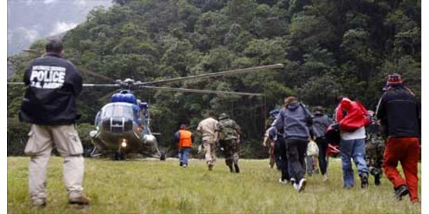 800 Touristen sitzen in den Anden fest