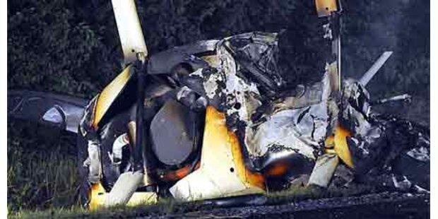 Hubschrauber krachte auf US-Autobahn