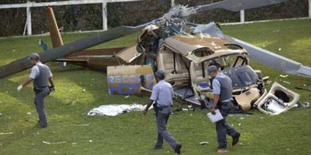 Sao Paulo: Helikopter-Absturz gefilmt