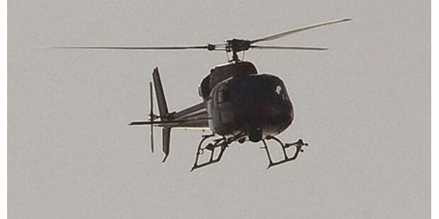 Hubschrauber kappt Stromleitung