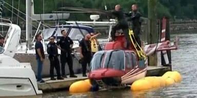 Helikopter musste im Hudson River notlanden