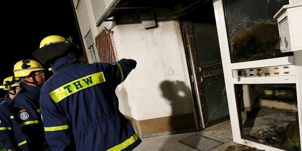 Brand in Flüchtlingsheim: 1 Schwerverletzter