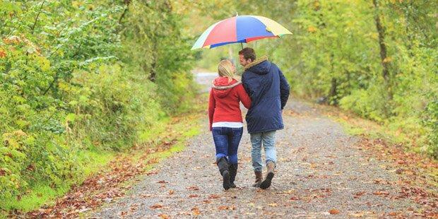 Regen trübt den Goldenen Herbst
