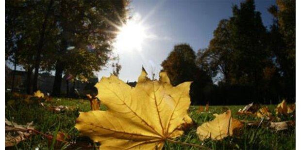 Herbst beginnt sonnig und zu warm