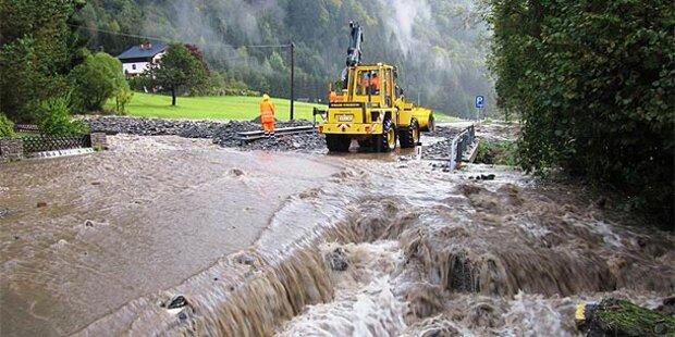 Unwetter in Kärnten: Muren und Überflutungen