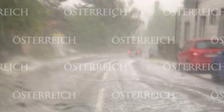 Blitz-Unwetter legte Wien lahm