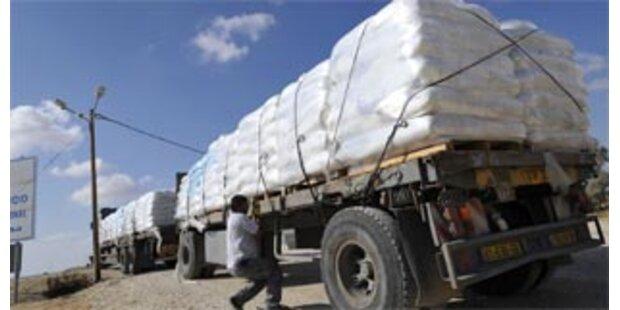 Israel lässt Hilfskonvoi nicht in Gazastreifen