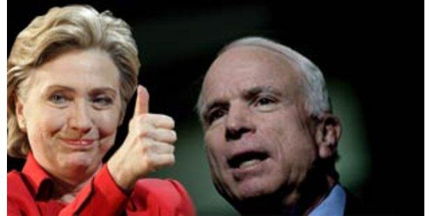 Clinton, McCain und Romney siegen
