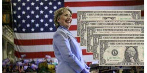 Hillary kann Rechnungen nicht mehr zahlen