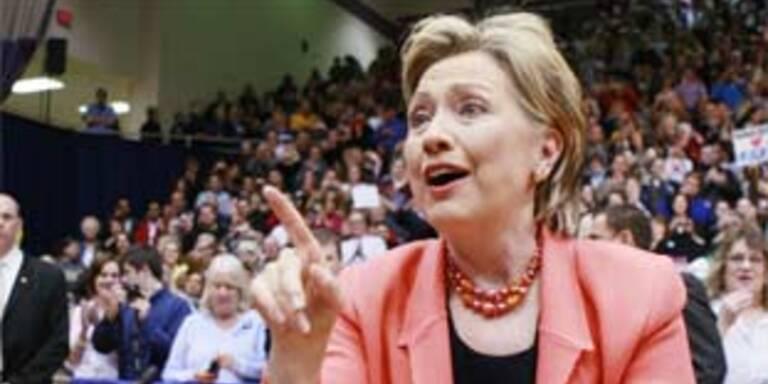Hillary Clinton kämpft um ihre Kandidatur