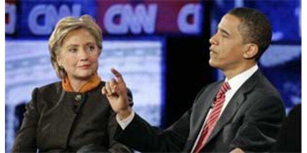 Duell Obama gegen Clinton geht weiter