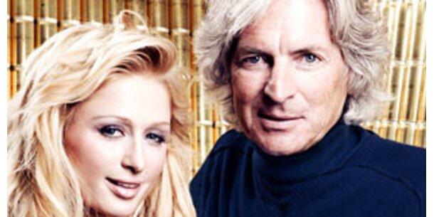 Dosensekt für Peking mit Vater von Paris Hilton