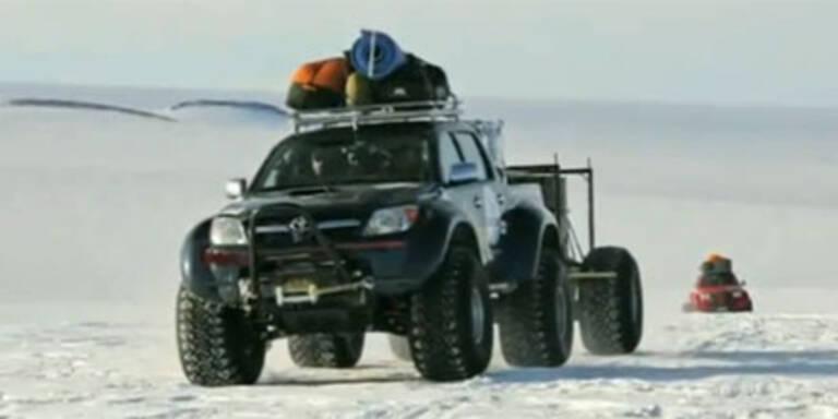 Mit dem Spezial-Hilux zum Südpol