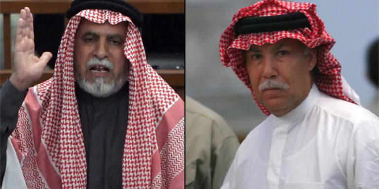 al-Bandar (l) und Saddams Halbbruder Barzan (r)/ (c) AFP