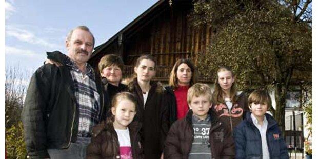 Großfamilie steht vor der Delogierung