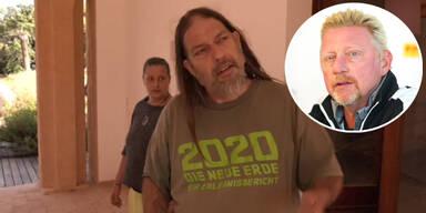 Hippie besetzt Boris-Becker-Villa