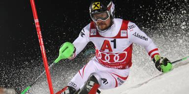Hirscher führt bei Slalom-Spektakel