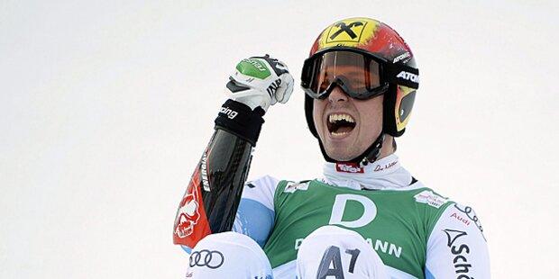 Hirscher-Triumph im Slalom - Bronze für Matt