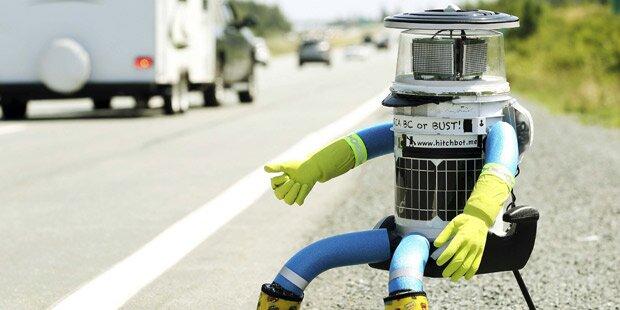 Ein Roboter trampt durch Kanada