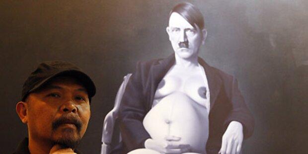 Schwangerer Hitler soll Kunstmesse pushen