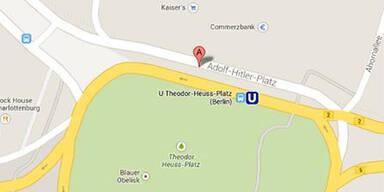 Google Maps zeigt Adolf-Hitler-Platz