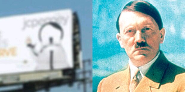 Werbeplakat sieht aus wie Hitler
