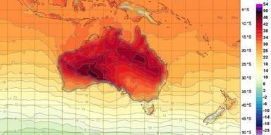 Meteorologen gehen Farben für Hitze aus