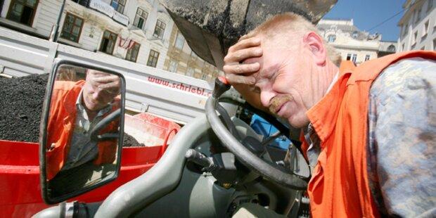 Polit-Streit um hitzefrei für Bauarbeiter
