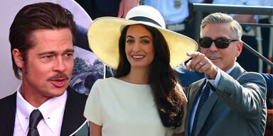 Brad Pitt, Amal Alamuddin-Clooney, George Clooney