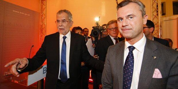 Oberösterreich: Hofer knapp vor Van der Bellen