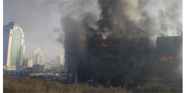Zwei Tote bei spektakulärem Wohnungsbrand in China