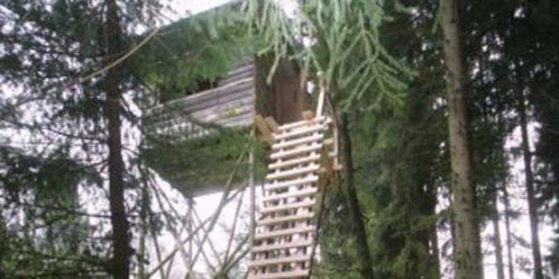 Jägerpärchen stürzte von Hochsitz