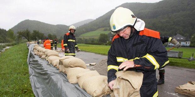 Österreich versinkt im Kälte-Regen