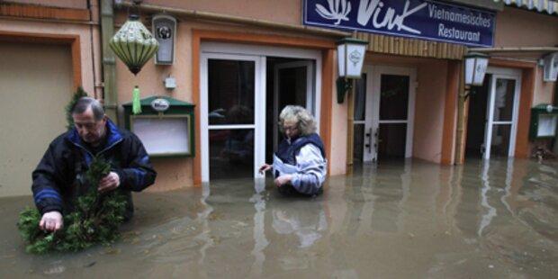 Hochwasser: Nun Angst in Österreich