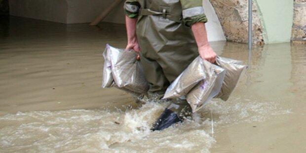 Hochwasser-Alarm in Teilen Mitteleuropas
