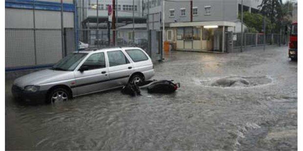 Zwei Tote bei schweren Unwettern in D