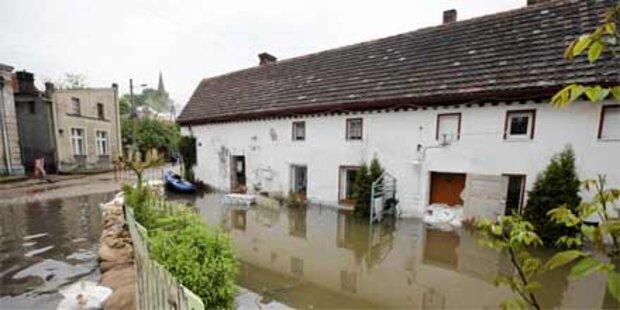 Teile von Warschau unter Wasser